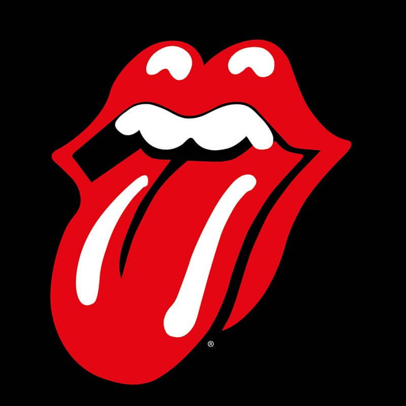 The Rolling Stones Lips Canvas
