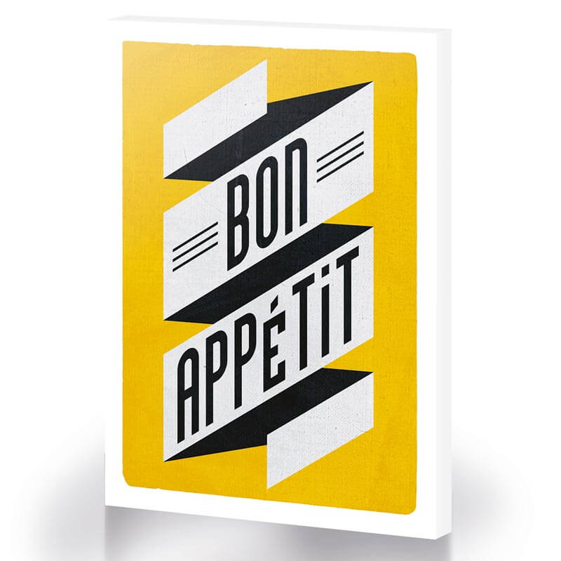 Bon Appetit Large Canvas
