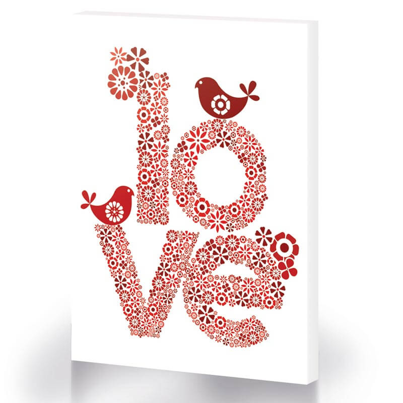 Red Love Canvas