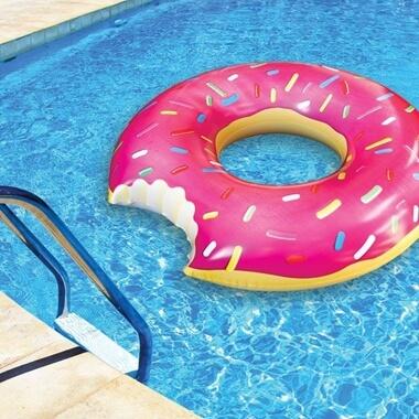Strawberry Donut Pool Float