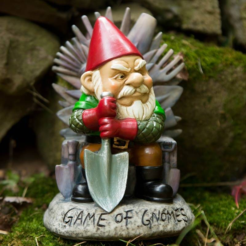 Gnome In Garden: Game Of Gnomes Garden Gnome