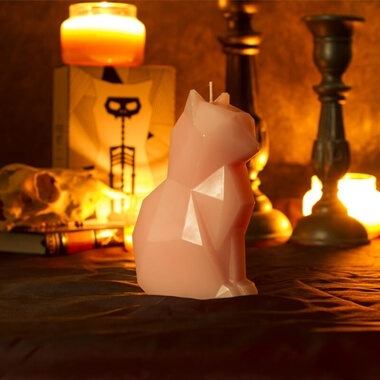 Pyro Pet Kisa Candle - Pink