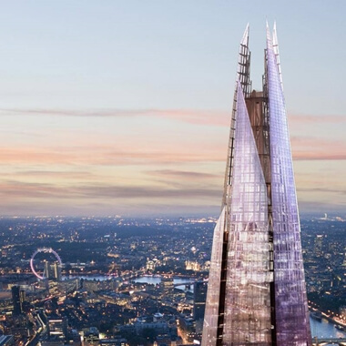 The View From The Shard with 3-course Michelin Dining & Bubbles For Two