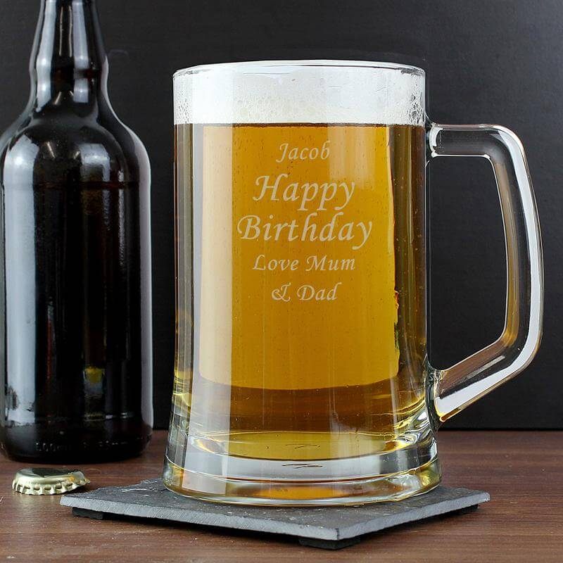 Personalised Glass Tankard