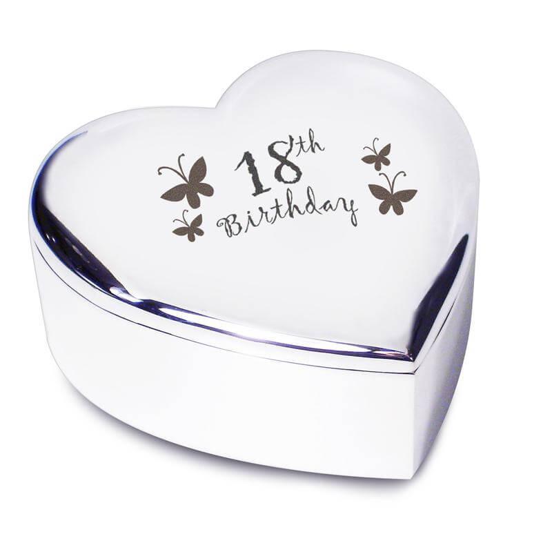 18th Birthday Heart Trinket Box