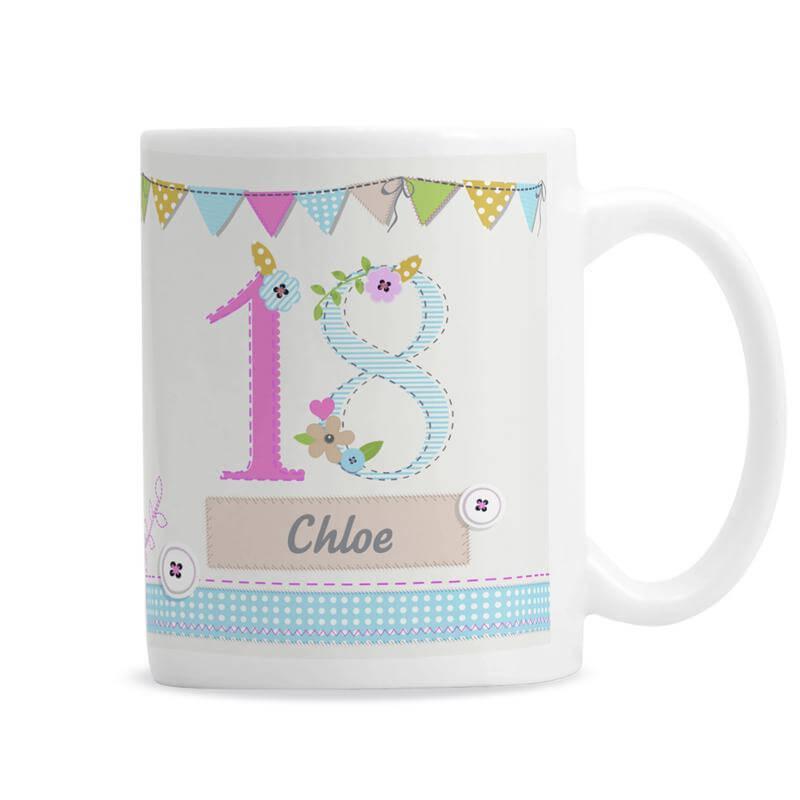 Personalised 18th Birthday Craft Mug