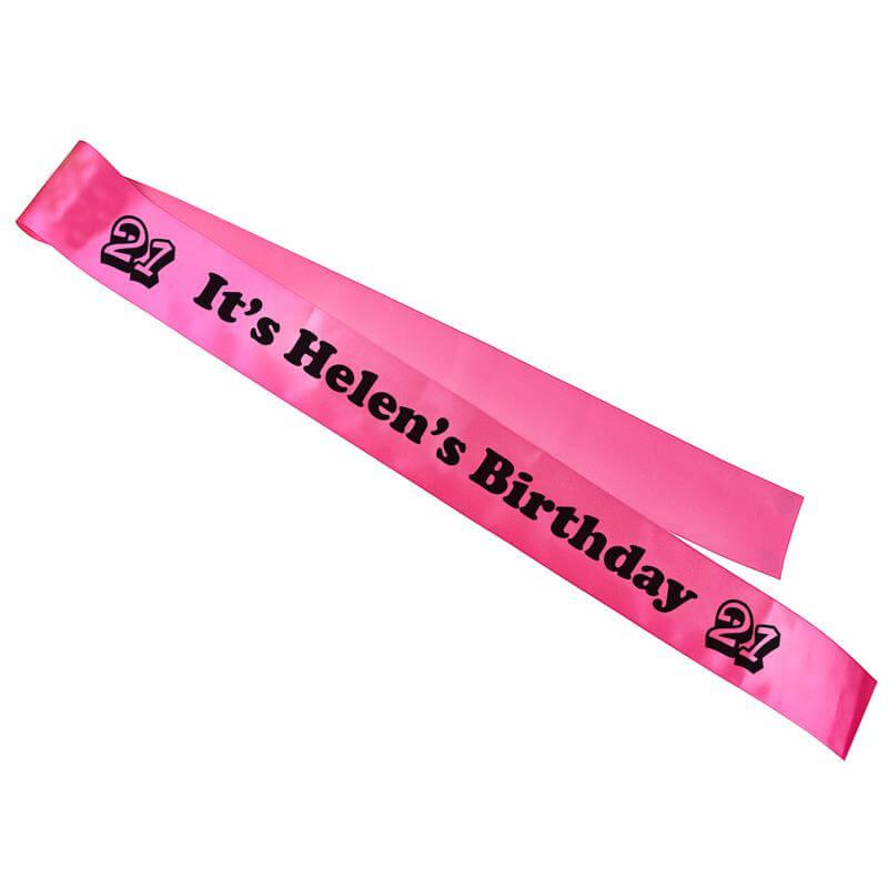 Personalised Birthday Sash