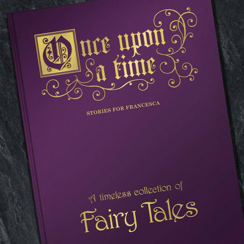 Deluxe personalised fairy tale book buy from for Fairy tale book cover template