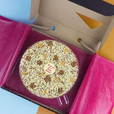 """Personalised Chocolate Pizza 10"""""""