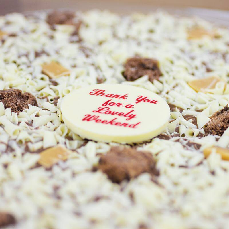 Personalised Chocolate Pizza