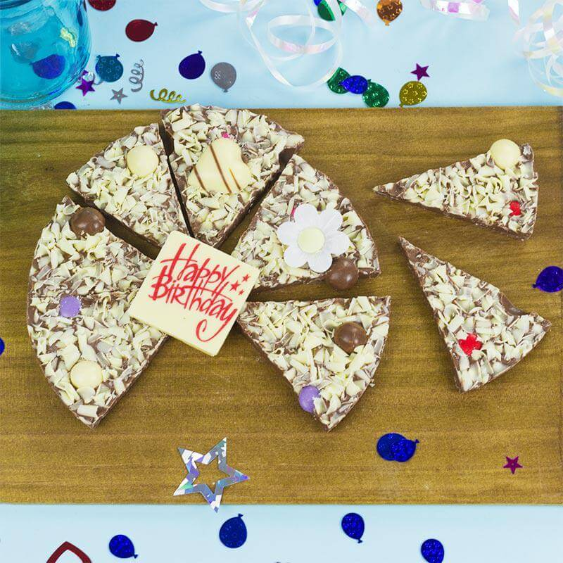 Happy Birthday Chocolate Pizza - For Her