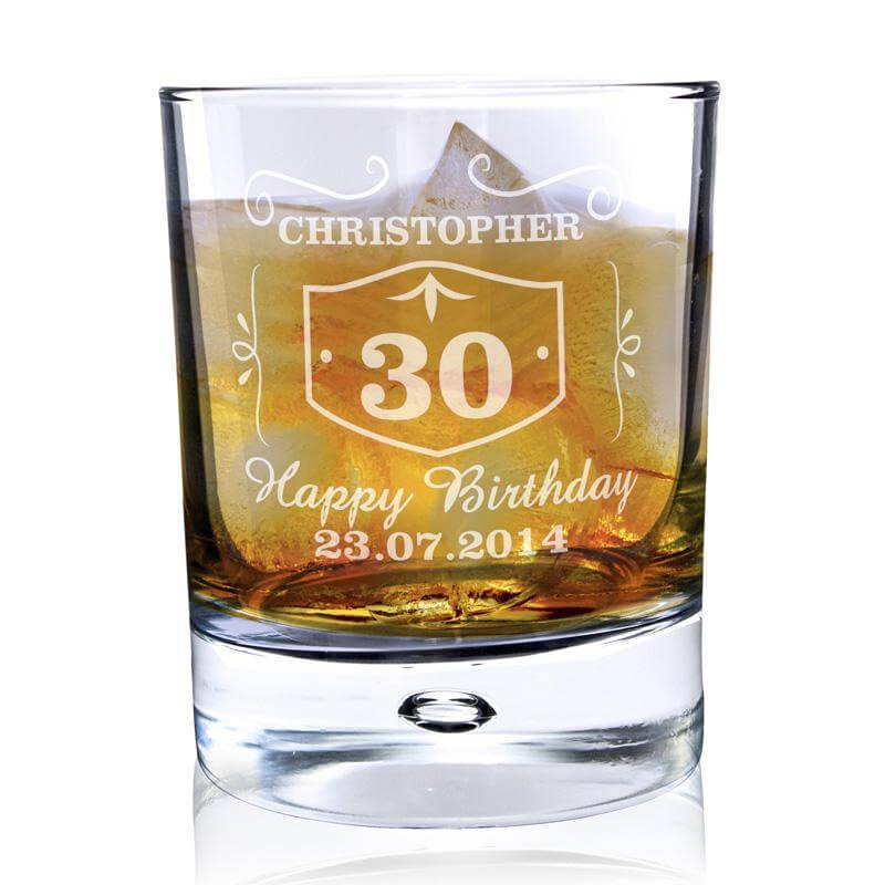 Personalised 30th Birthday Whisky Glass