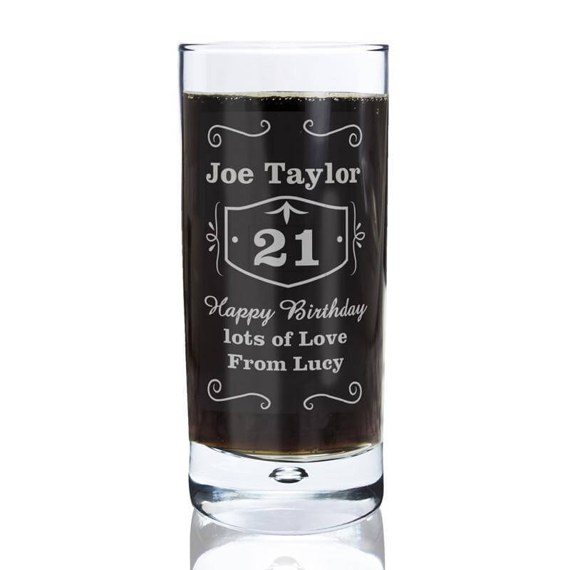 Personalised 21st Whisky Glass