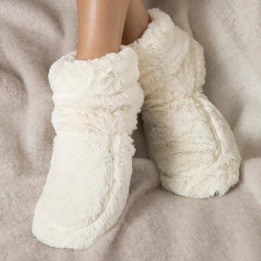 Cozy Microwaveable Boots - White