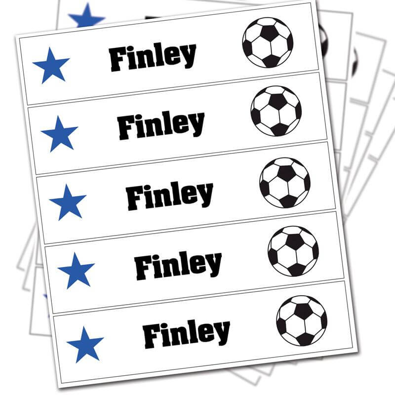 Personalised Football Iron-on Labels