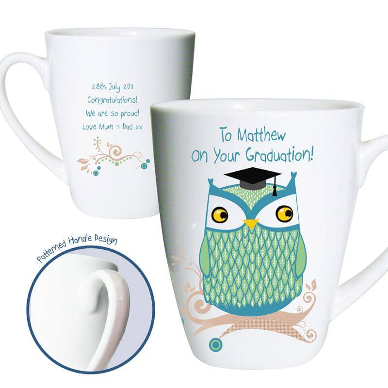 Personalised Mr Owl Teacher Latte Mug