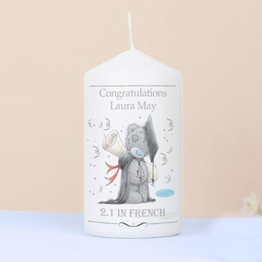 Personalised Me To You Graduation Candle