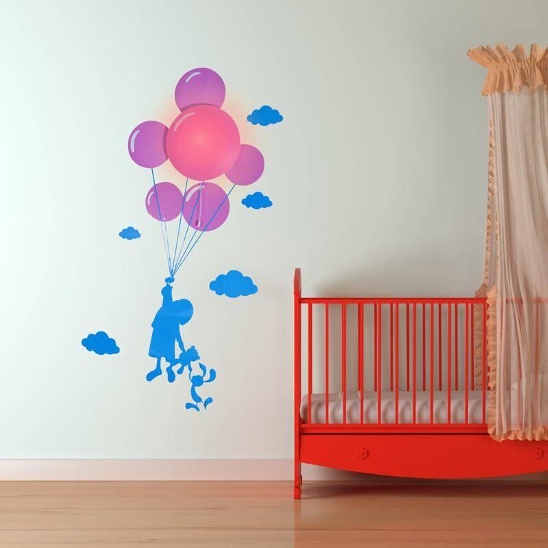 Balloon Night Light & Wall Sticker
