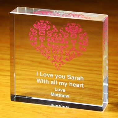 Personalised Ruby Wedding Anniversary Crystal Token