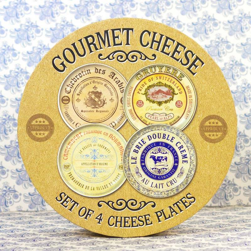 Cheese Plates - Set of 4