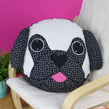 Pablo the Pug Cushion