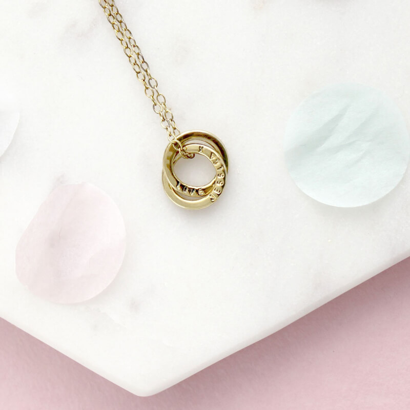 Personalised Mini Interlinking Necklace