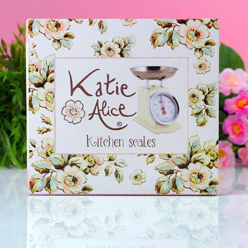 Katie Alice Cottage Flower Cookware Vintage Scales