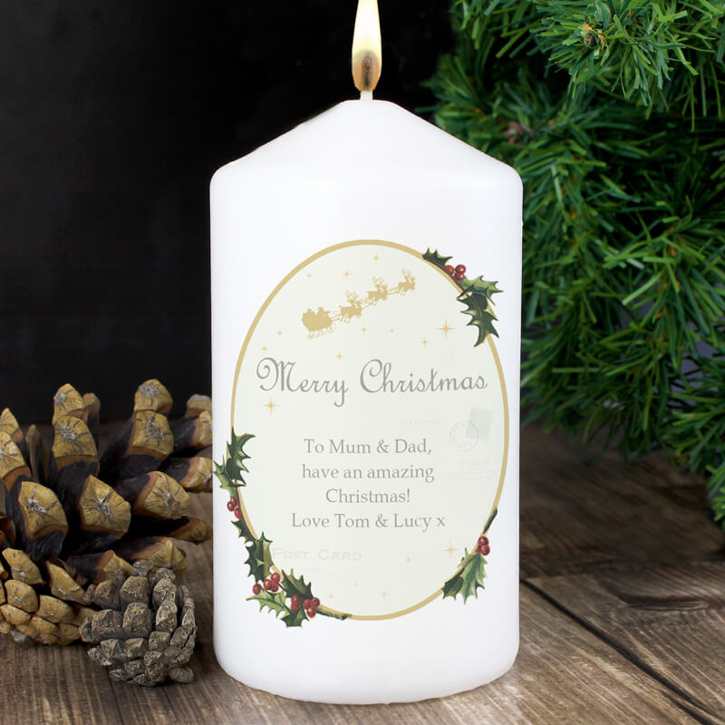 9d271c4b Personalised Traditional Christmas Candle - Buy from Prezzybox.com