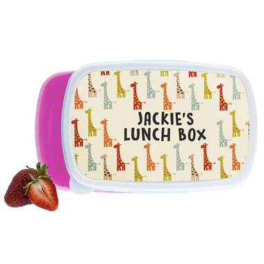 Personalised Giraffe Lunch Box