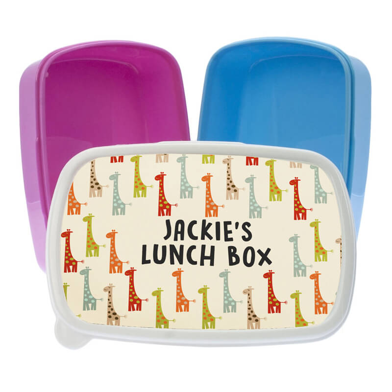 Personalised Giraffe Lunch Box
