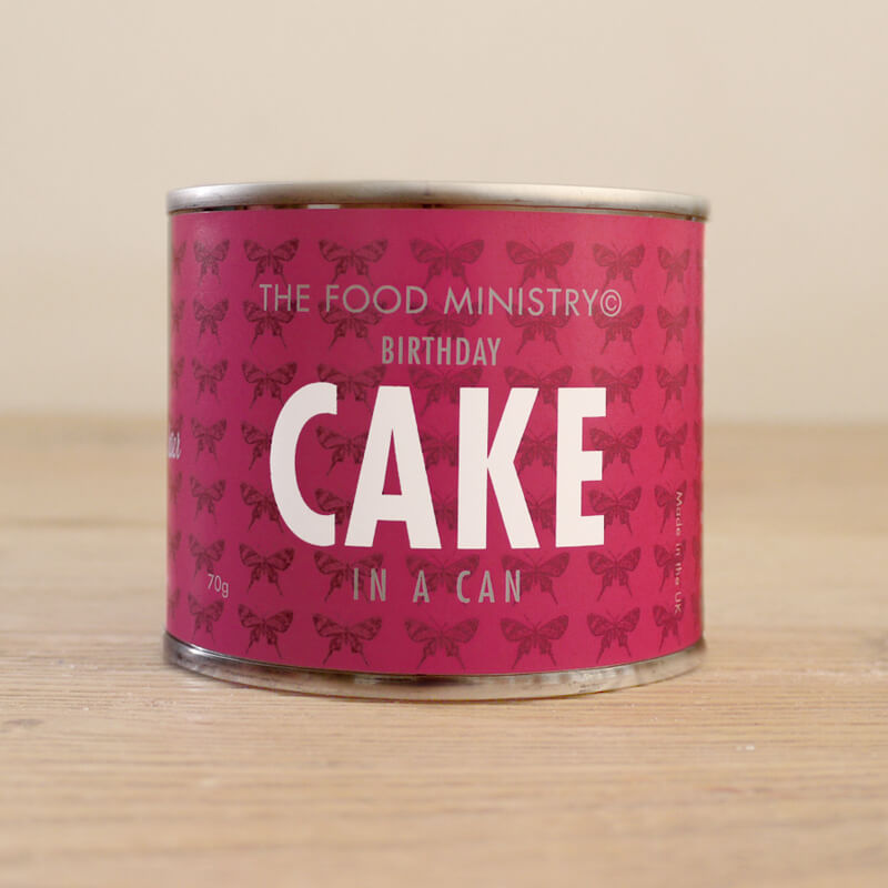 Birthday Cake In A Can Buy From Prezzybox