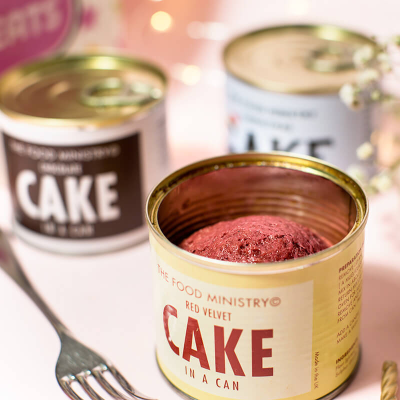 Red Velvet Cake In A Can