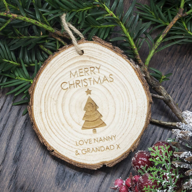 Personalised Christmas Tree Hanging Decoration