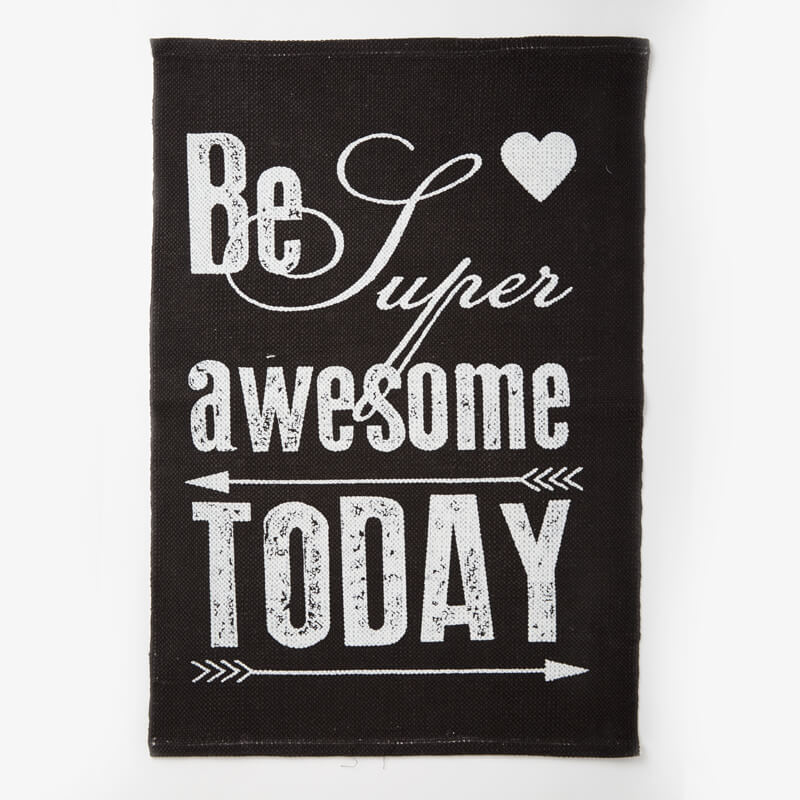 Be Awesome Today Retro Arrow Print Rug