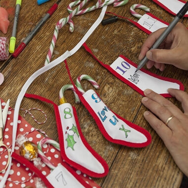 The Doodle Advent Calendar Bunting