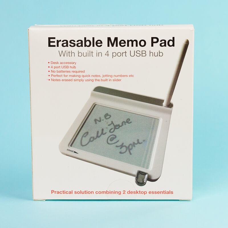 Erasable Memo Pad With 4 USB Ports