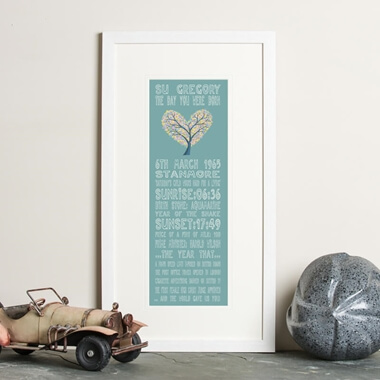 Personalised 50th Birthday Print