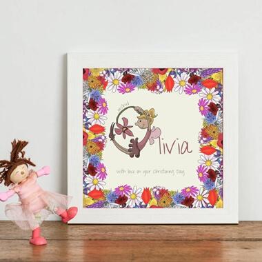 Personalised Fairy Initial Print