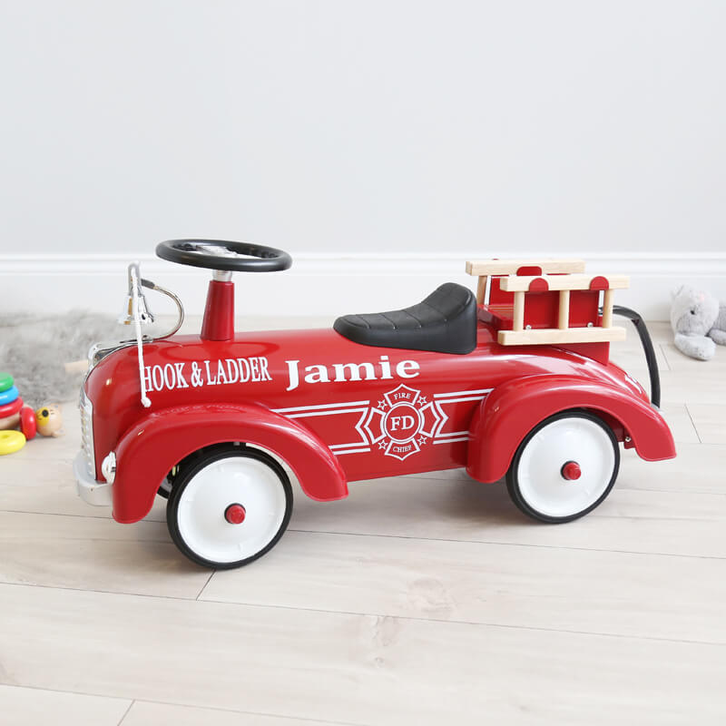 Personalised Ride on Fire Engine