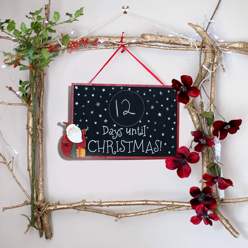Santa Christmas Countdown Blackboard