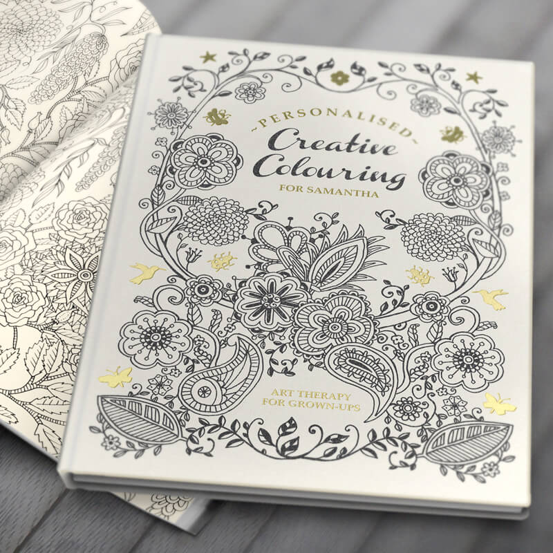 Personalised Creative Colouring Book - Hardback