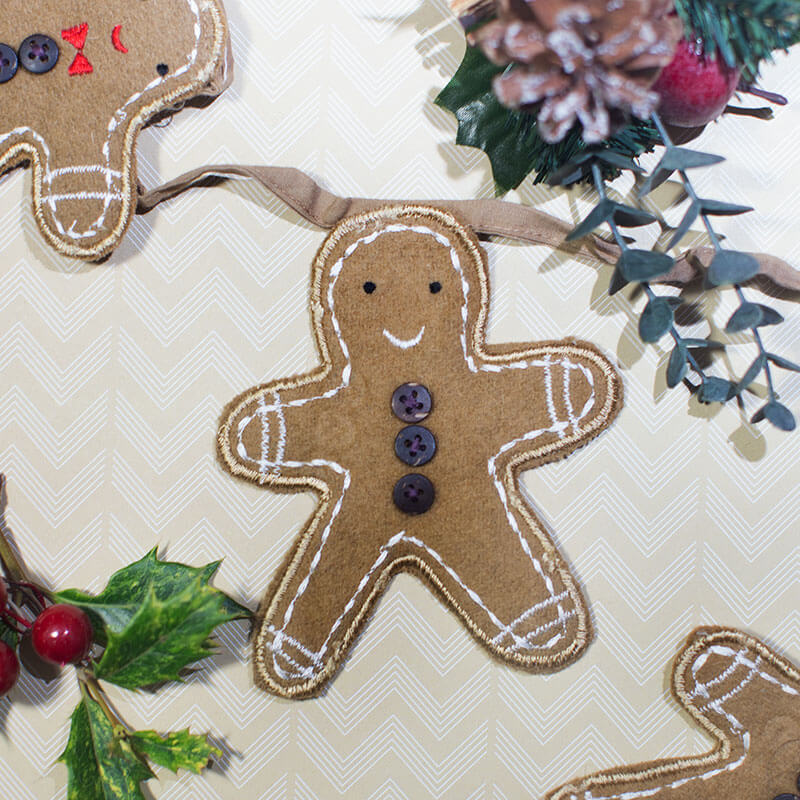 Gingerbread Man Bunting Garland