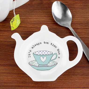 Personalised Tea Cup Tea Bag Rest