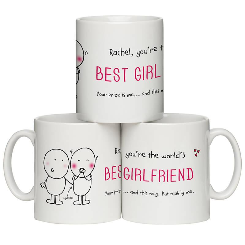 Personalised Chilli & Bubble's Mug - Best Girlfriend