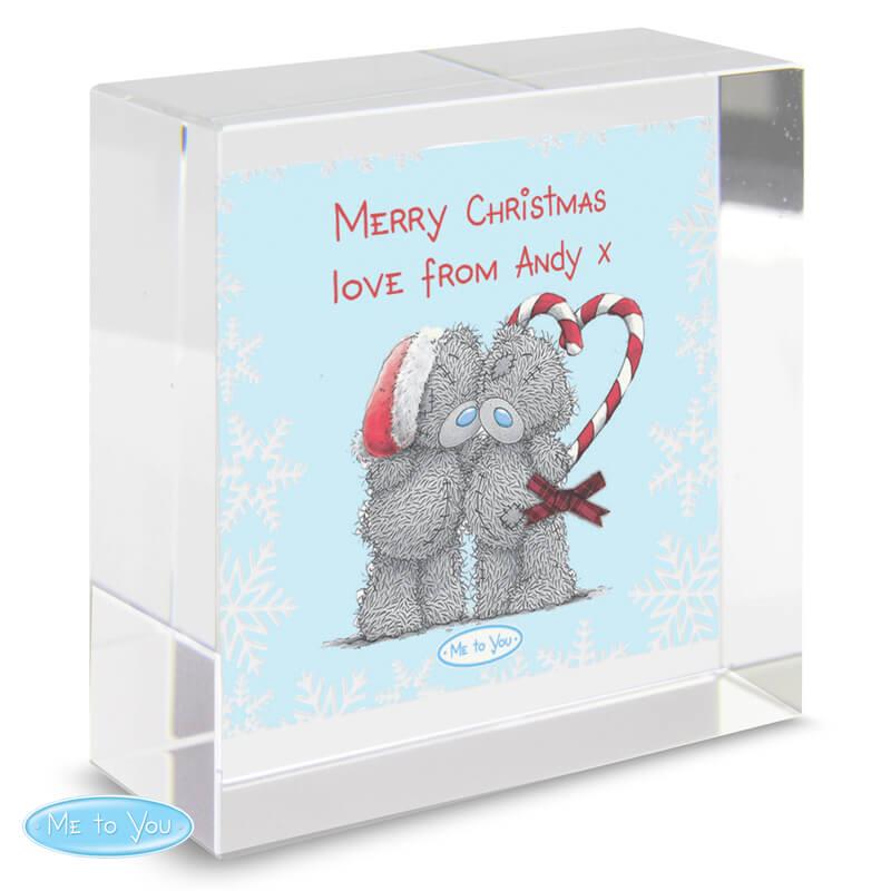 Personalised Me To You Christmas Crystal Token