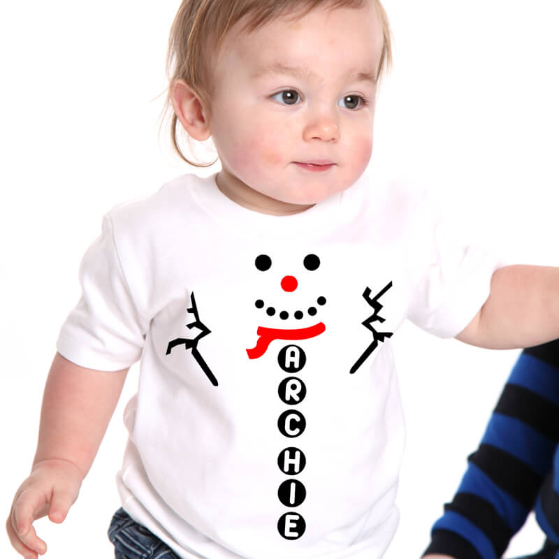 Personalised Snowman T-Shirt & Hat