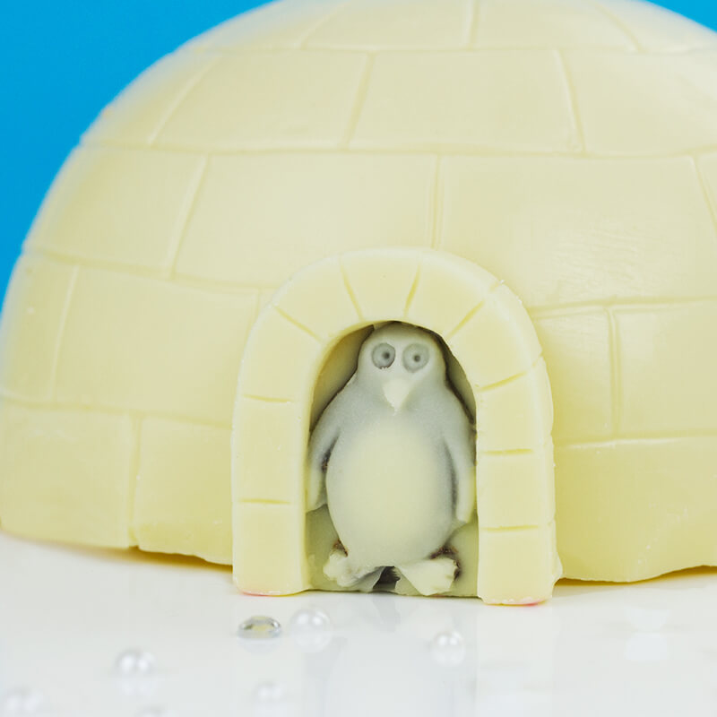Chocolate Igloo With Penguins