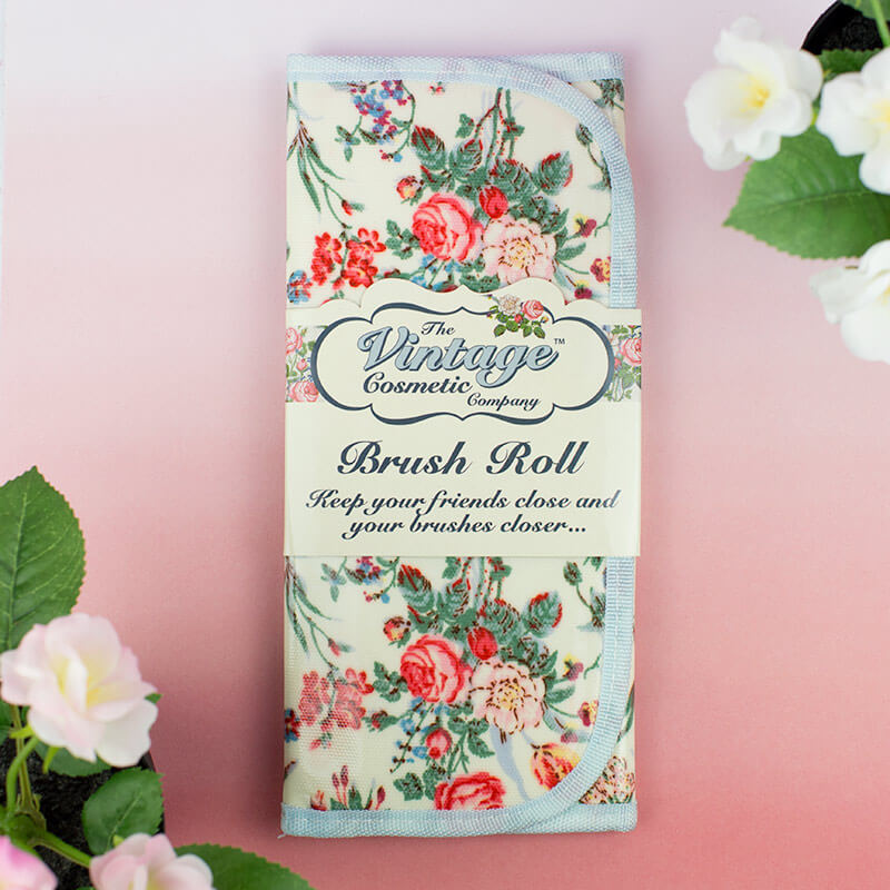 Floral Vintage Brush Roll