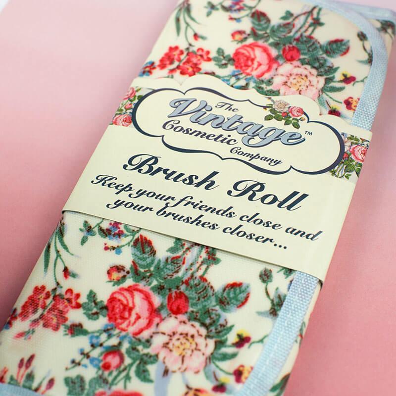 Floral Vintage Brush Roll