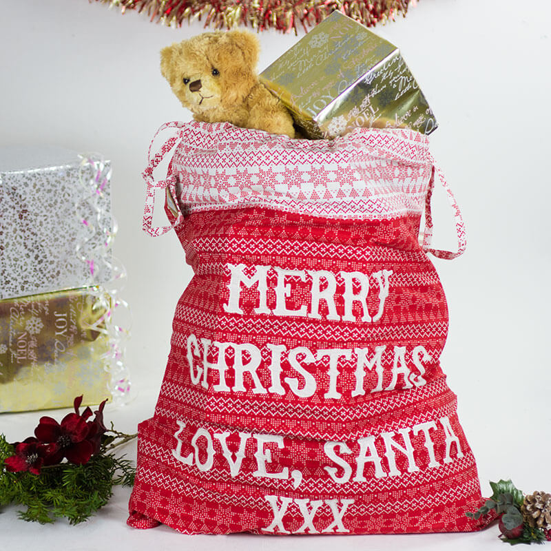 Fairisle Merry Christmas Sack